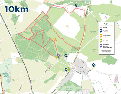 Sandridge 10k event : route map for the 10k Run